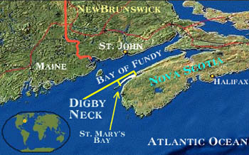Map of Digby Neck